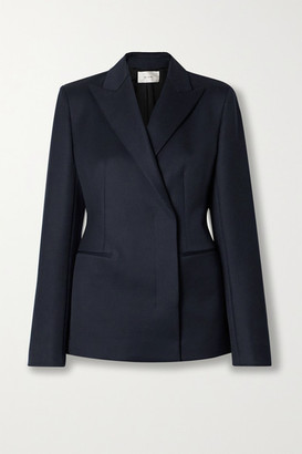 The Row Lanois Double-breasted Wool-twill Blazer - Navy