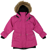 Big Chill Pink Long Expedition Jacket - Girls
