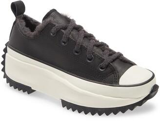 Converse All Star(R) Run Star Hike Water Repellent Faux Fur Sneaker