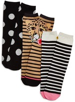 Kate Spade Crew Socks, Set of 3