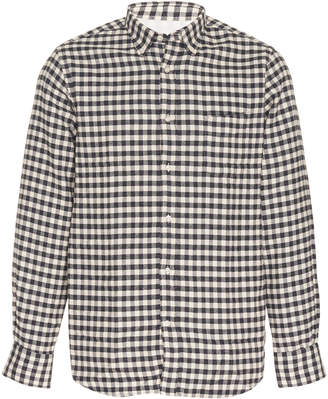 Officine Generale Gingham Brushed Cotton-Flannel Shirt Size: S