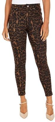 Hue Ikat Animal Denim High-Rise Leggings (Brown) Women's Casual Pants
