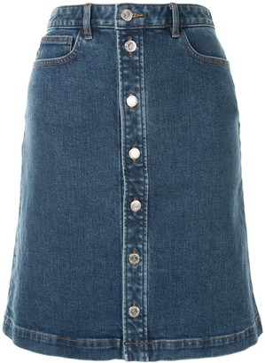 A.P.C. Therese buttoned denim skirt