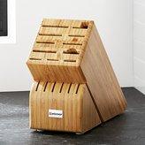 Crate & Barrel Wüsthof ® 17-Slot Bamboo Knife Block