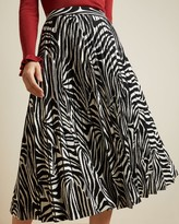 Ted Baker Printed Knitted Pleated Midi Skirt