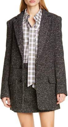 Tibi Multicolor Tweed Long Blazer