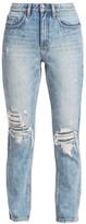 Ksubi High-Rise Slim Pin Straight Distressed Jeans