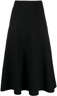 Jil Sander A-line midi skirt
