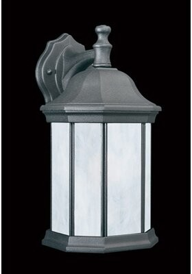 Three Posts Shelburn 1 - Bulb Outdoor Wall Lantern Fixture Finish: Painted Bronze, Shade Finish: White