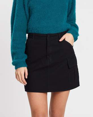 All About Eve Washed Out Utility Skirt