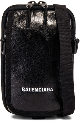 Balenciaga Cross Body Pouch in Black | FWRD