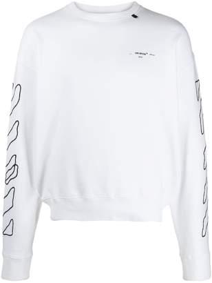 Off-White abstract logo print sweatshirt