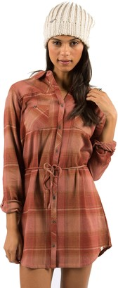 Element Juniors Boulevard Long Sleeve Flannel Plaid Dress