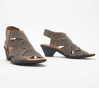 Comfortiva Block Heel Criss Cross Strap Sandals - Farrow
