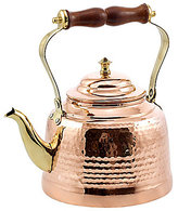 Old Dutch Hammered Copper Tea Kettle with Brass Spout and Wood Handle