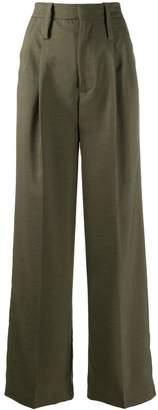 Cavallini Erika high-waisted pleated trousers