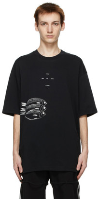 Song For The Mute Black Oversized Fish T-Shirt