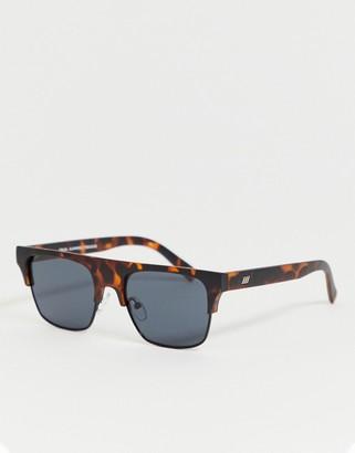 Le Specs cruel summer flatbrow sunglasses in tort