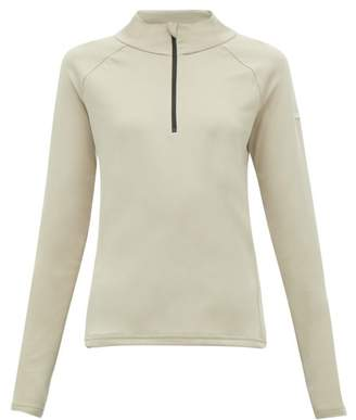BEIGE Capranea - Zipped Funnel-neck Fleece-back Sweater - Womens