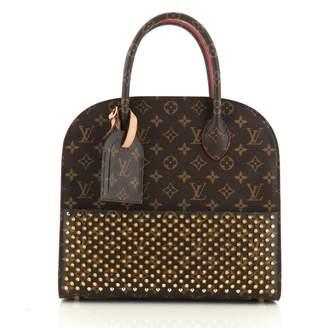 Louis Vuitton Shopping Bag Louboutin Red Cloth Handbags