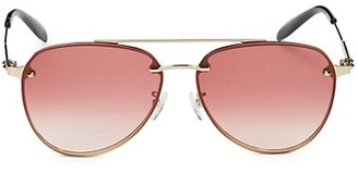 Alexander McQueen 61MM Aviator Sunglasses
