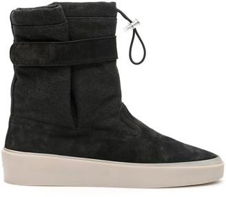 Fear Of God SKI LOUNGE BOOTS 39 Grey, Black Cotton, Leather, Denim