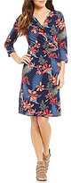Tommy Bahama Sacred Groves 3/4 Sleeve Short Dress