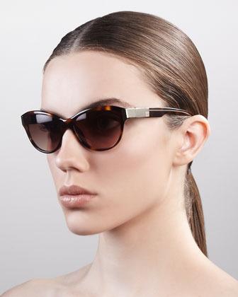 Givenchy Cat Eye Sunglasses, Havana