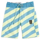 Volcom Boy's 'Stripey Slinger' Board Shorts