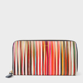 Paul Smith Women's Large 'Crossover Stripe' Leather Zip-Around Purse