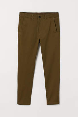 H&M Super Skinny Fit Chinos - Green