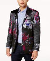 Tallia Orange Men's Big and Tall Slim-Fit Black/Blue/Red Floral Dinner Jacket