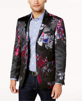 Tallia Orange Men's Big & Tall Slim-Fit Black/Blue/Red Floral Dinner Jacket
