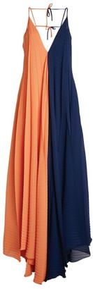 Roland Mouret Two-Tone Tusi Slip Dress