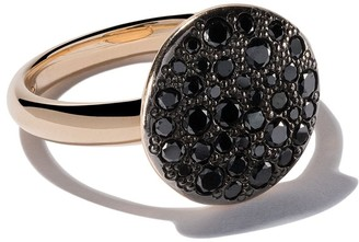 Pomellato 18kt rose gold Sabbia black diamond ring
