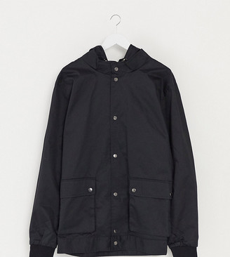 Burton Menswear Big & Tall hooded jacket in black