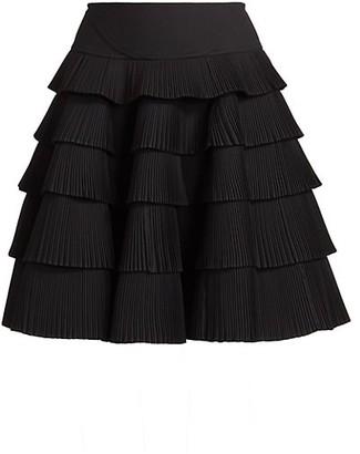 Alaia Plisse Pleated Tier Skirt
