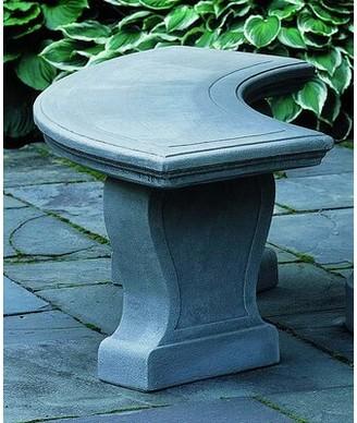 Campania International Palladio Cast Stone Garden Bench Color: Natural