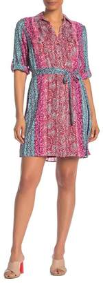 Collective Concepts 3/4 Sleeve Printed Dress