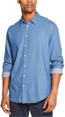 DKNY Men Indigo Twill Shirt