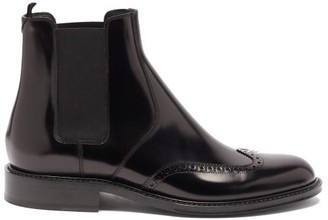 Saint Laurent Ceril Leather Chelsea Boots - Black