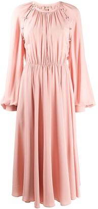 No.21 Bishop Sleeve Midi Dress