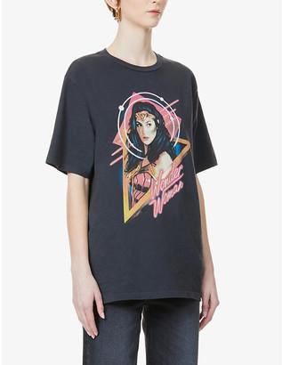 RE/DONE x Wonder Woman 1984 graphic-print cotton-jersey T-shirt