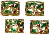 Lenox Holly and Berry Napkin Rings, Set of 4