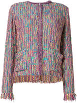 Etro fringe tweed jacket