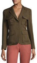 Theory Lackman Prospective Safari Jacket, Green