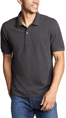 Eddie Bauer Classic Field Pro Short Sleeve Polo Shirt - Tall (Charcoal Heather) Men's Clothing