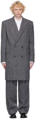 Juun.J Grey Wool Coat