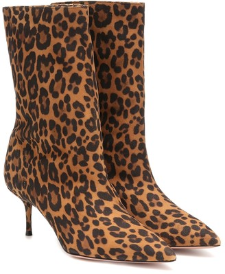 Aquazzura Very Boogie 60 suede ankle boots