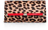 Diane von Furstenberg Leopard-Print Calf Hair Clutch